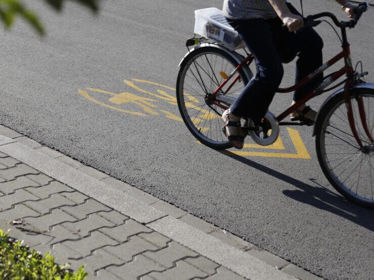 Jadący rower