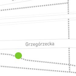 Punkt pomiaru ruchu rowerowego o nazwie Grzegórzecka