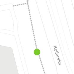 Punkt pomiaru ruchu rowerowego o nazwie Kotlarska