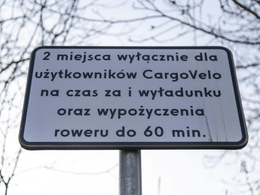Zdjęcie tabliczki CargoVelo