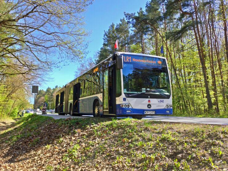 Zdjęcie autobusu linii rekreacyjnej LR1